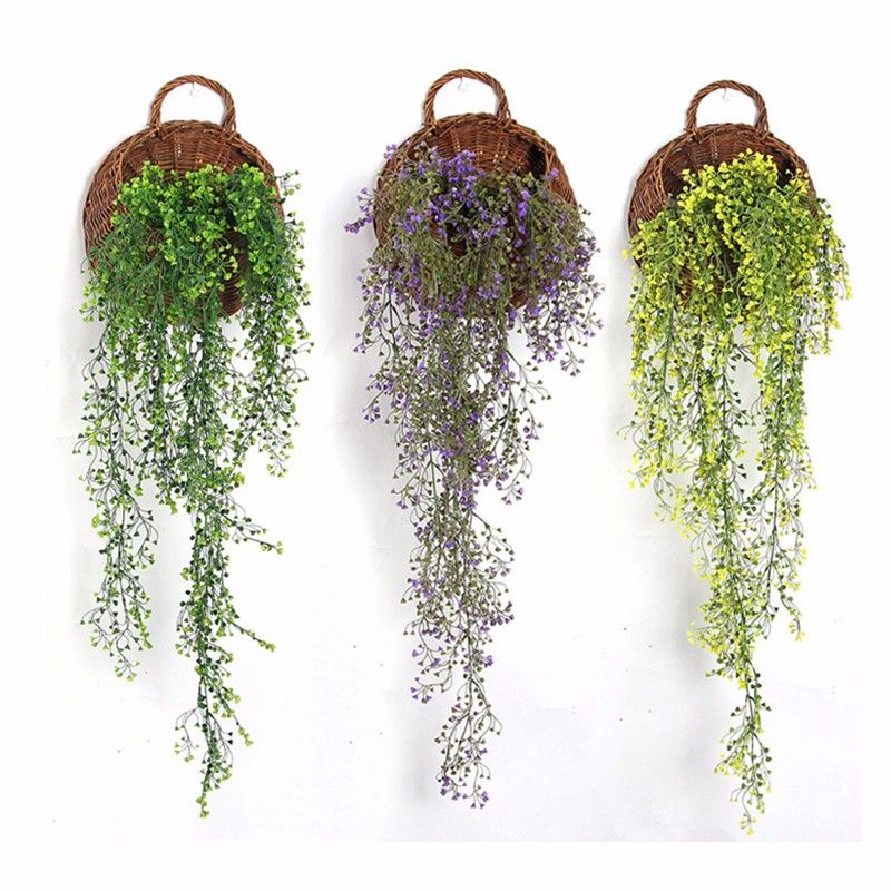 1pcs Green Hanging Plant Artificial Plant Mini Flower Willow Wall Home Decoration Balcony Decorattion Hanging Plants Artificial Flowers Small Artificial Plants