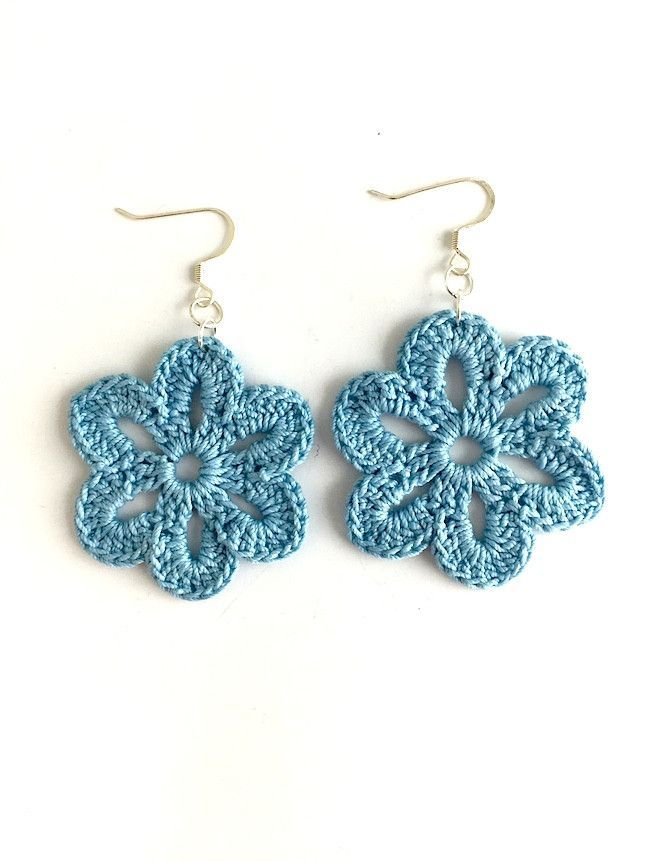 Flower Crochet Earrings | Crochet earrings, Crochet and Craft
