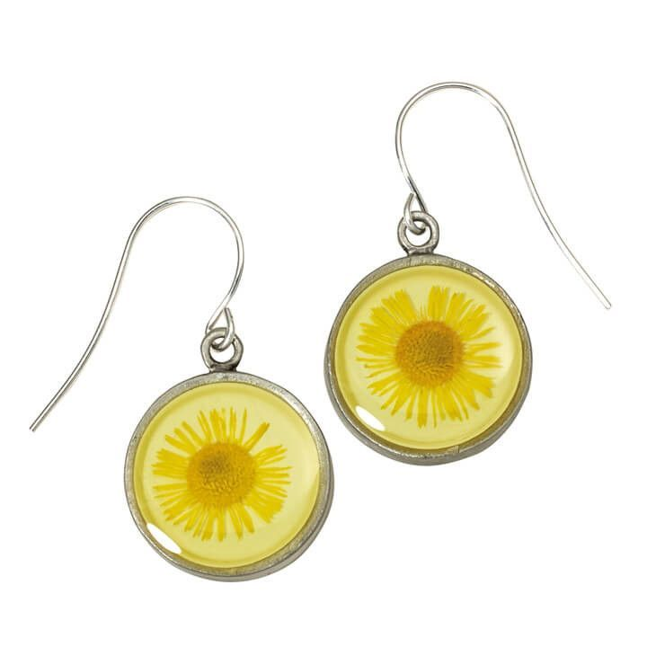 Shari Dixon Yellow Daisy Flower Earrings
