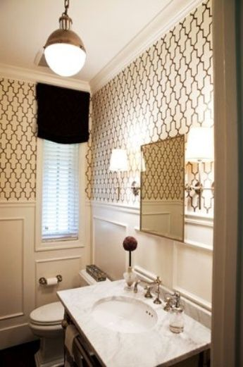 #Wallpaper For #Bathroom Decorating Ideas #WallLighting For Bathroom Decorating Ideas