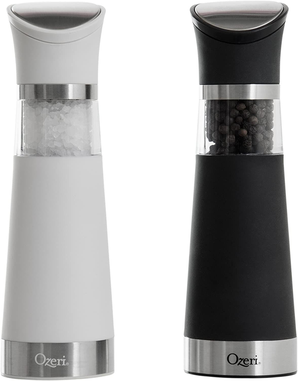 Ozeri Graviti Pro Electric Salt And Pepper Grinder Set Bpa Free Walmart Com Salt And Pepper Grinders Electric Pepper Grinder Pepper Grinder