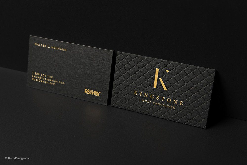 Triplex Business Cards with gold foil stamping - photo 13 | Ads ...
