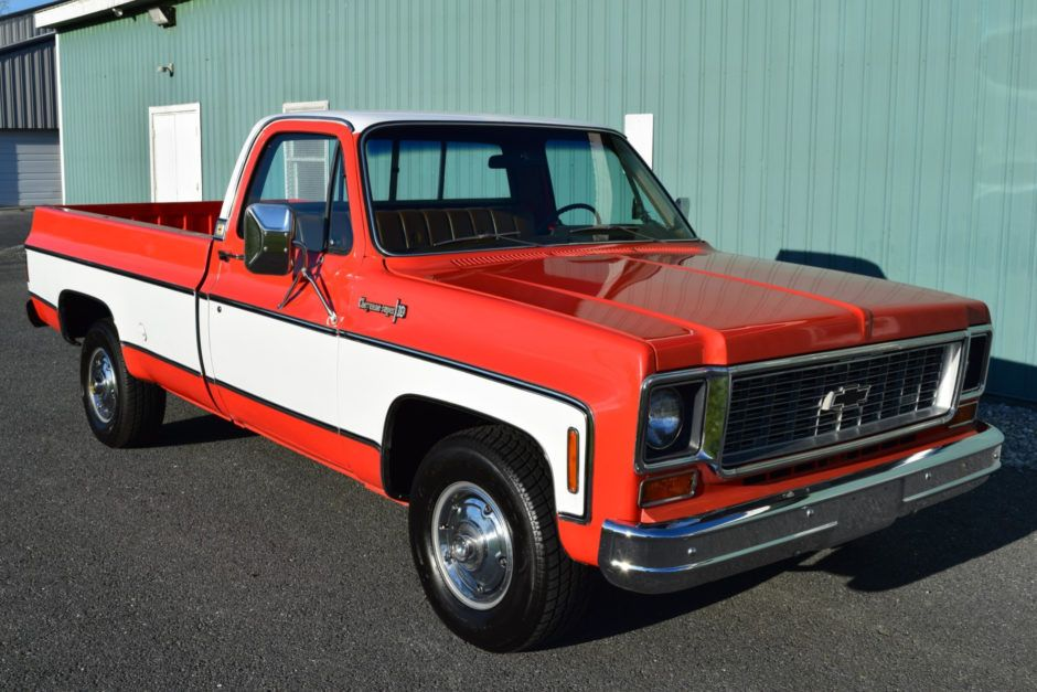 Fuel Injected 355 Powered 1974 Chevrolet C10 Cheyenne Super Chevy C10 Chevy Pickups Chevy Trucks