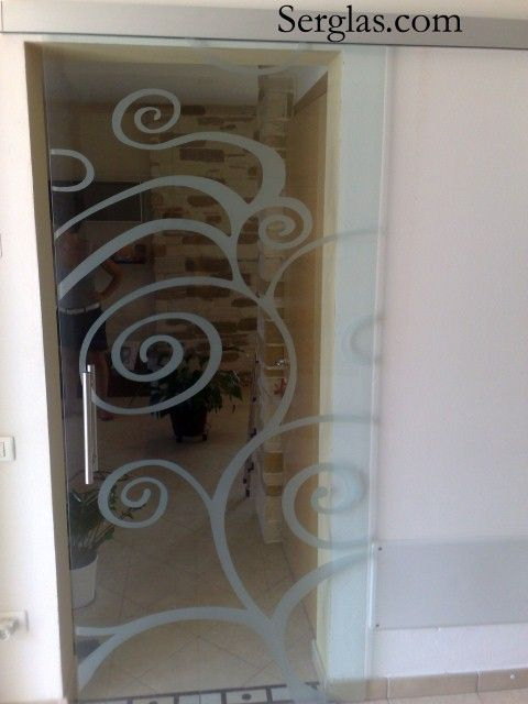 Porte scorrevoli decorato porte scorrevoli decorati porte vetro scorrevoli eserno muro porte - Vetri decorati per porte scorrevoli ...