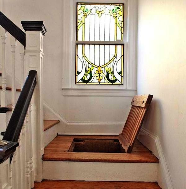 #Trapdoor In The #stairs. How #awesome Would This Be?