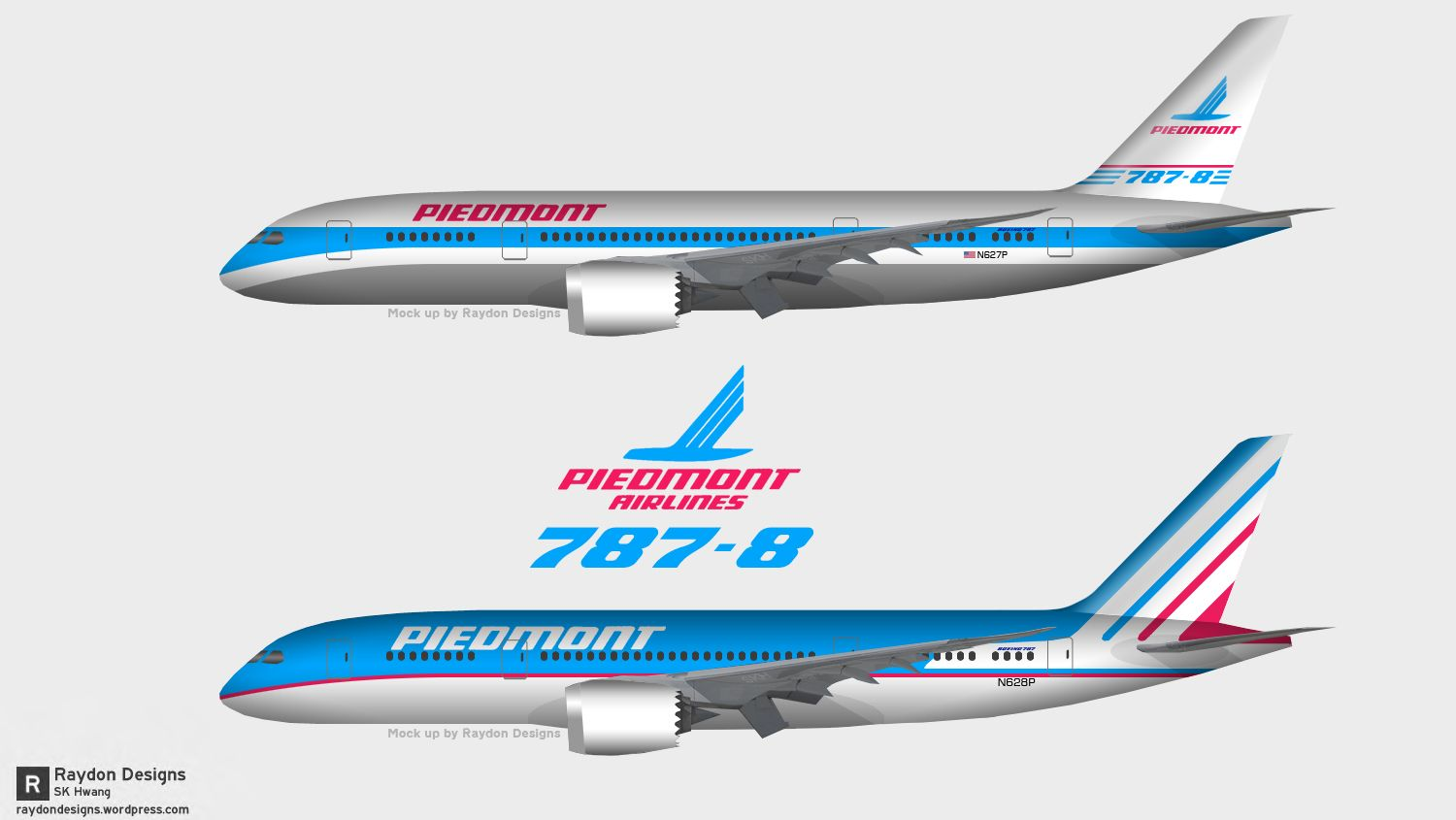Piedmont Airlines Livery On Boeing 787 Airliners