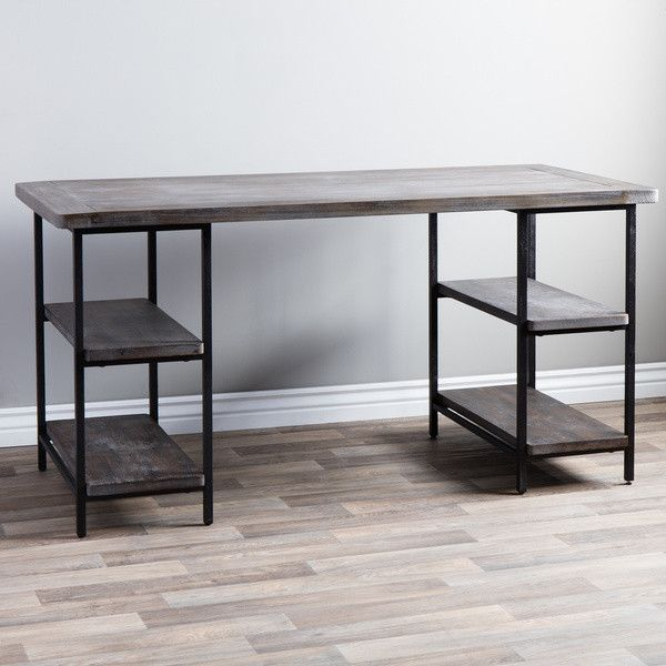 Renate Contemporary Wood Metal Home Office Table Modern Computer Desk