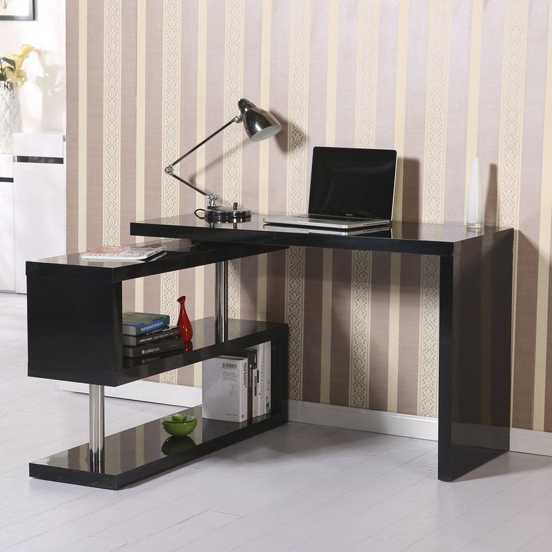 L Shaped Computer Desk With Shelves
