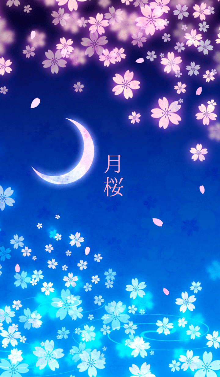 Moon Cherry Blossoms Theme Cherry Blossom Wallpaper Iphone Cherry Blossom Wallpaper Anime Cherry Blossom