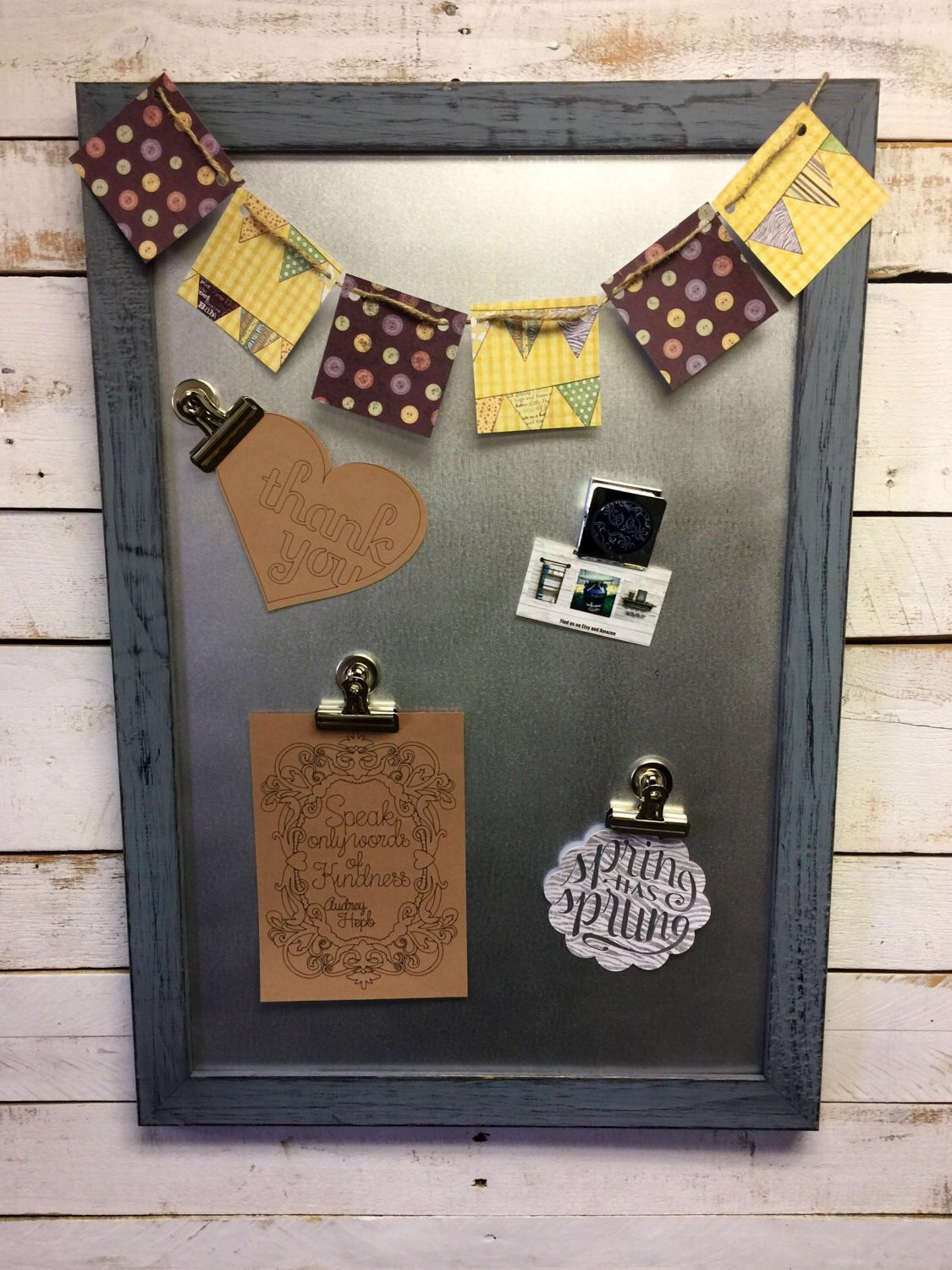 Rustic Magnet Board Message Center Magnetic Board Office Organizer Message  Board