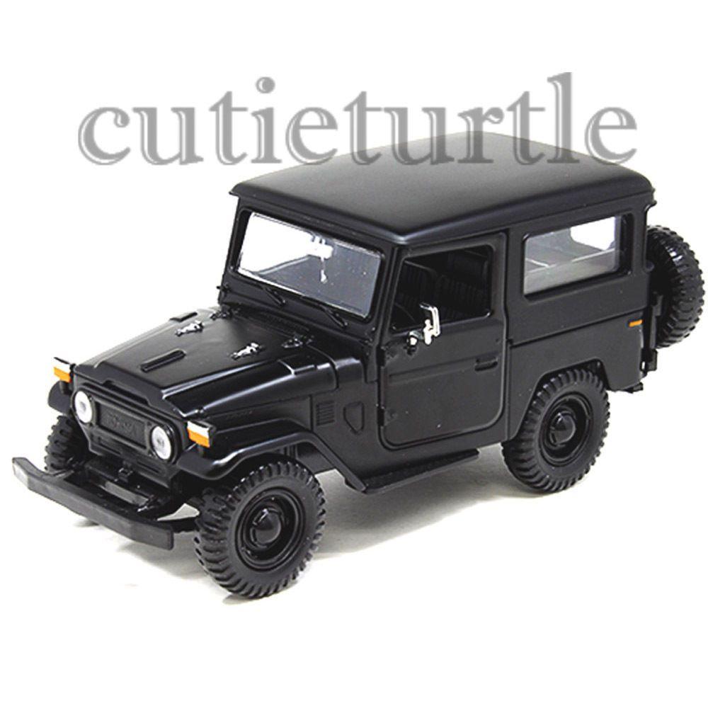 Motormax toyota fj 40 land cruiser 1 24 diecast car 79323 matte black