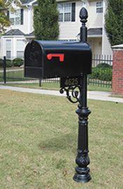 Essex Mailbox Buy Online At Www Addressesofdistinction Com Wrought Iron Mailbox Metal Mailbox Mailbox Installation
