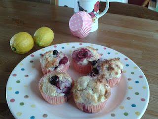 Lemon & berries muffins I made