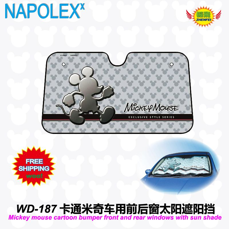 car accessories Cartoon Mickey mouse front window sunshade Foils Windshield  Visor Cover UV Protect Car window 6d5089019cb