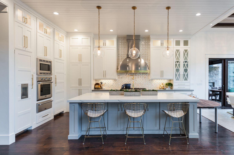 Kitchen With Quartz Counters Double Island New Hampshire Model