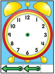 Reloj recortable para aprender las horas para ni os - Manualidades relojes infantiles ...