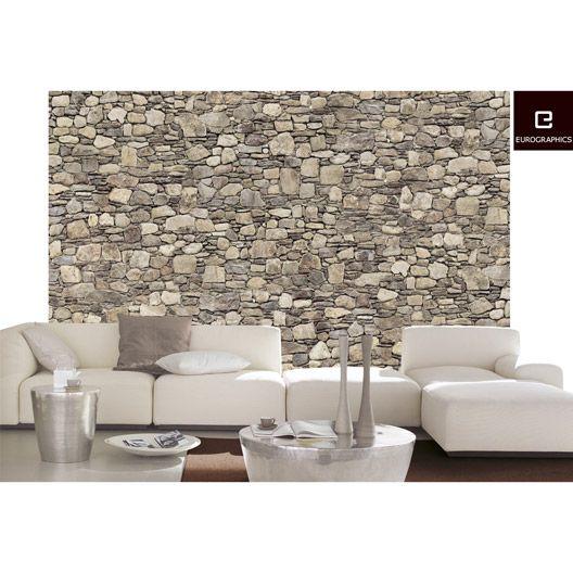 Poster Xxl De Mur Stone Wall 254 X 366 Cm Murs En Pierre