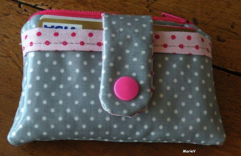 porte monnaie tuto zippy wallet tissu tilda toile enduite eurodif pression kam mes. Black Bedroom Furniture Sets. Home Design Ideas