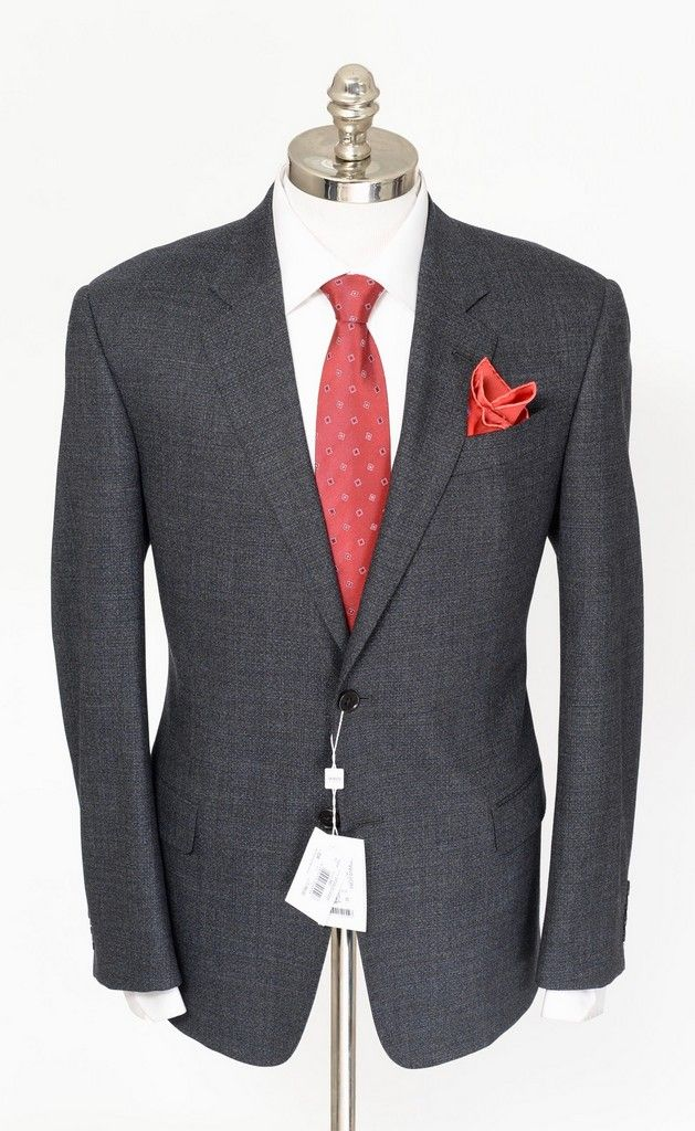 ARMANI COLLEZIONI G Line Gray Blue Nailhead Wool Slim 2Btn Suit  |  Get in there! http://www.frieschskys.com/suits  |  #frieschskys #mensfashion #fashion #mensstyle #style #moda #menswear #dapper #stylish #MadeInItaly #Italy #couture #highfashion #designer #shopping