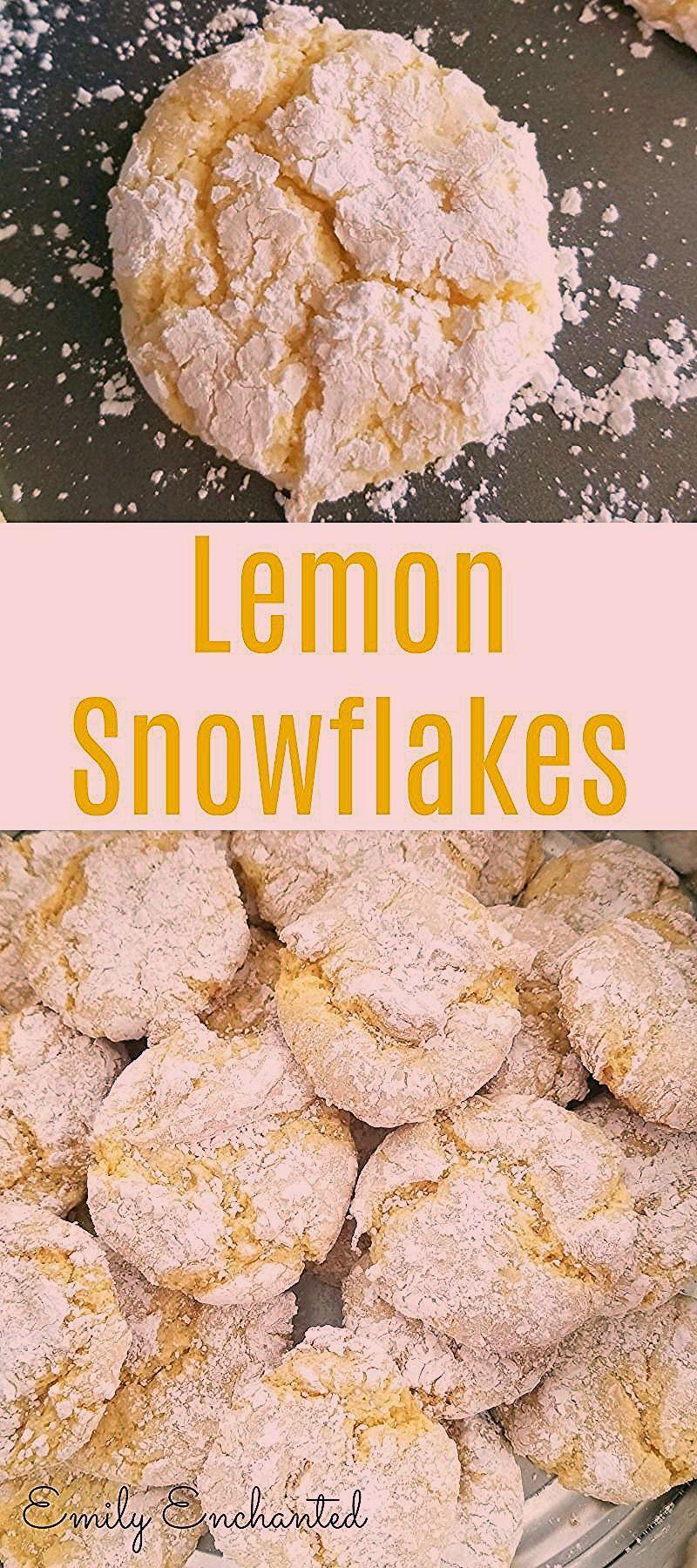 Lemon Snowflakes Cookie Recipe, Christmas Cookies |