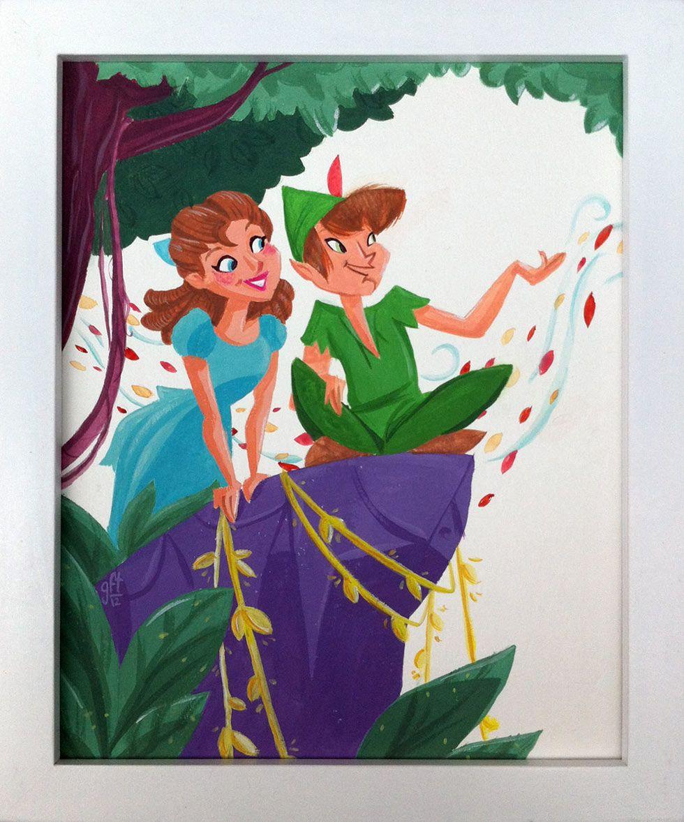 Peter Pan - Show Neveland Genevieve Ft Sing Movie Art