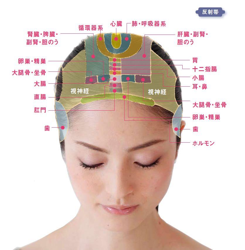 女性のための 効くツボと反射帯全図 頭編2 | YOLO | 頭 ツボ, 健康に ...