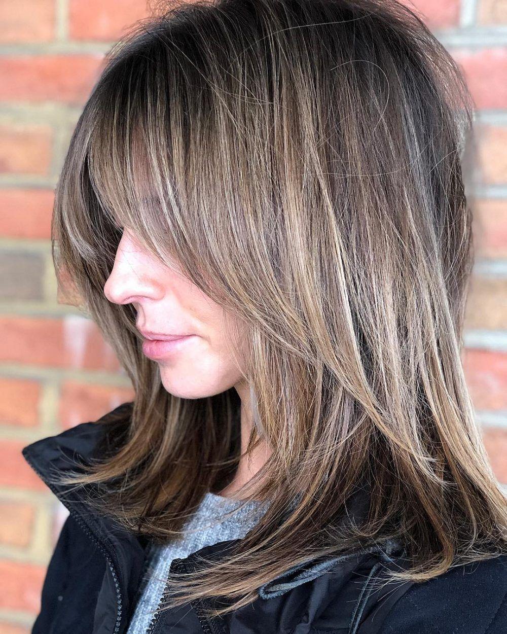 53 Popular Medium Length Hairstyles With Bangs In 2019 Medium