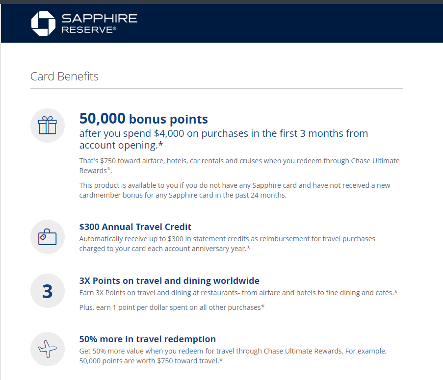 Chase Sapphire Reserve, Best travel credit card available