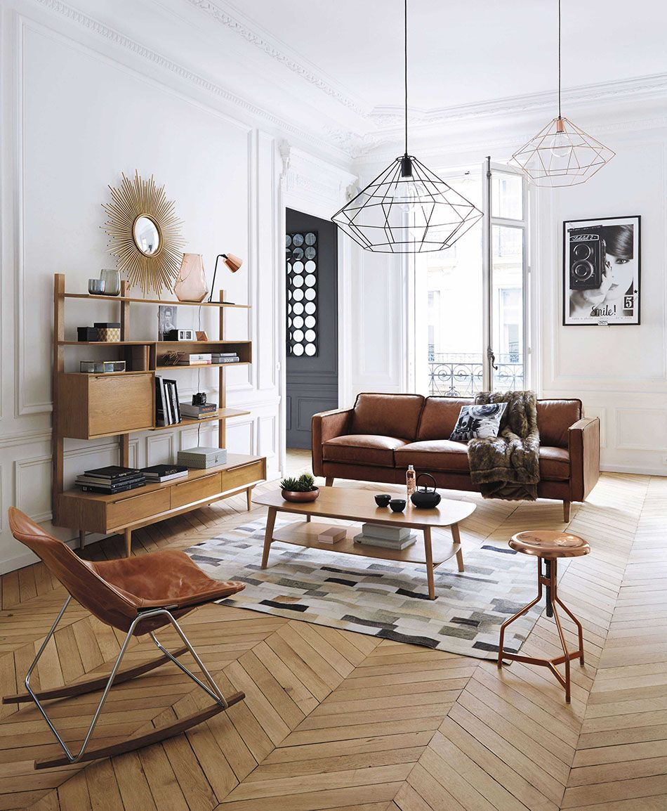 Inspiratieboost: cognac-kleurig leer in de woonkamer - Roomed - KOT ...