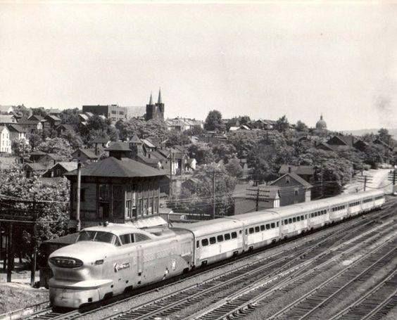 Pennsylvania Railroad Aero Train At Slope Tower Altoona