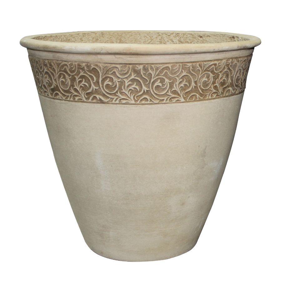 Shop Garden Treasures 21 65 In X 20 08 In Sand Concrete Planter At