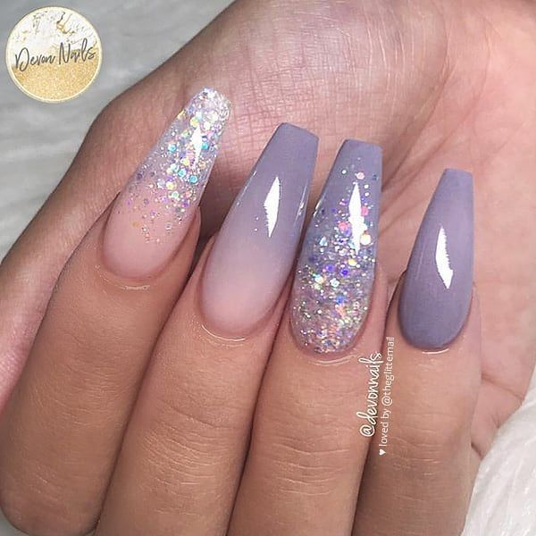 Photo of Hairstyles  #Coffin #nails gray Coffin nails, Coffin nails dip powder, white Cof…