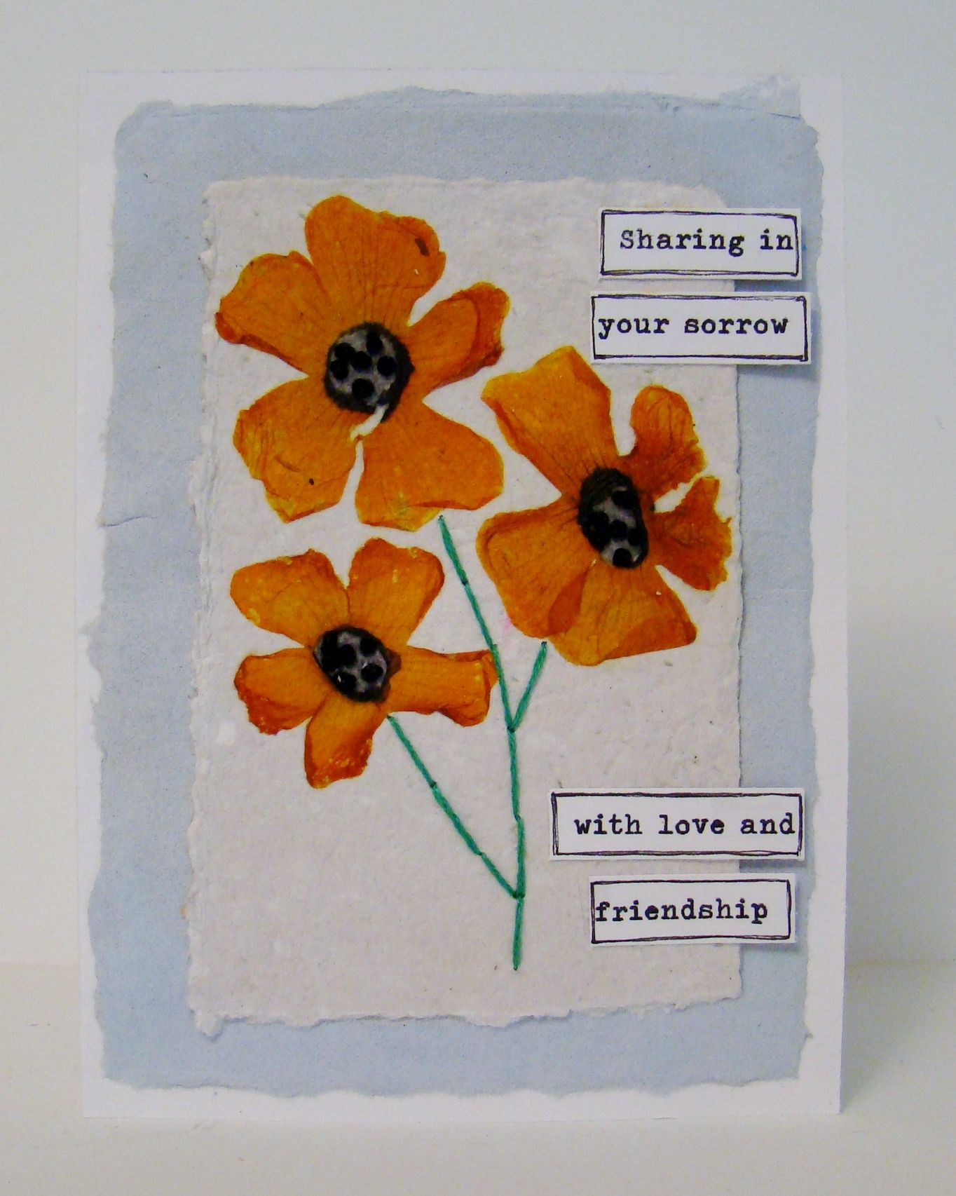 Sold Pressed Flowers On Handmade Paper Sympathyget Well Cards