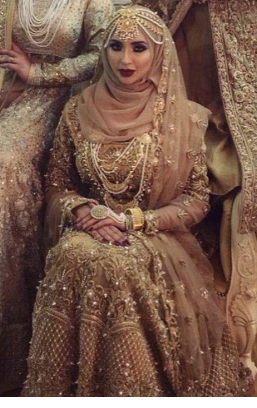 c7b90f9576 Highly weird jewelries Pakistani Bridal Wear, Pakistani Wedding Dresses,  Wedding Hijab Styles, Bridal