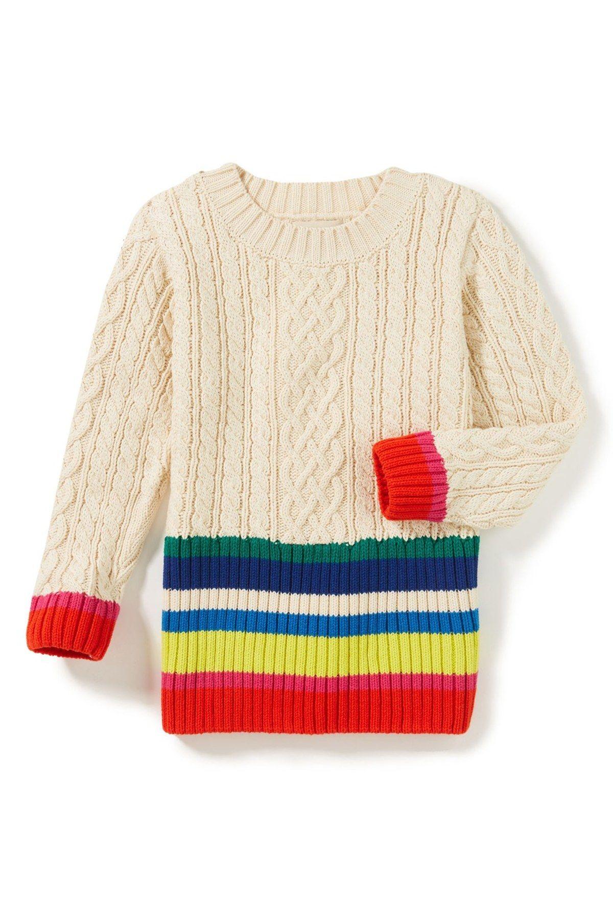 dba4efb29 Rainbow Knit Sweater (Toddler Girls