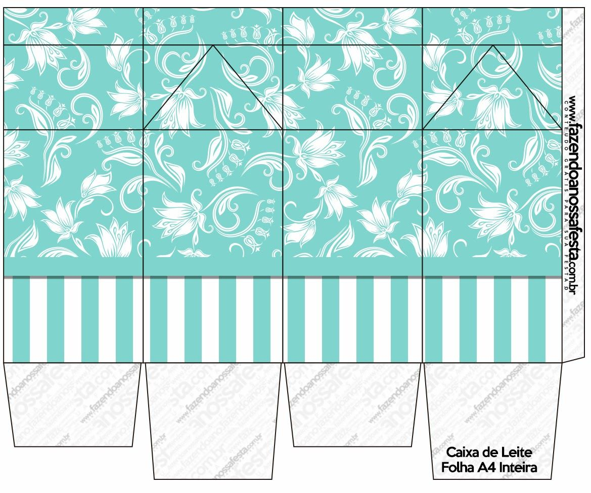 Fiesta Tiffany: Cajas para Imprimir Gratis. Click on link for free template. http://eng.ohmyfiesta.com/2014/05/tiffanys-party-free-printable-boxes.html