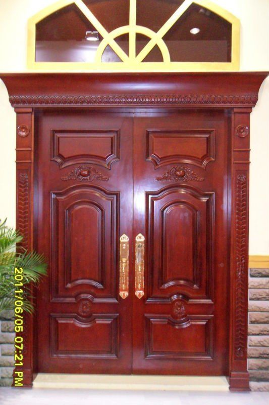 Double wooden doors main entrance wooden double door for Main double door design