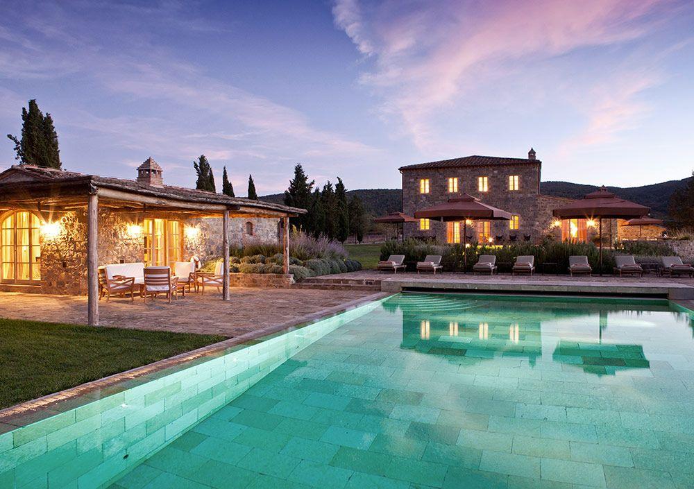 villa santanna castiglion del bosch detail poolhouse mit eigener terrasse - Hinterhoflandschaftsideen