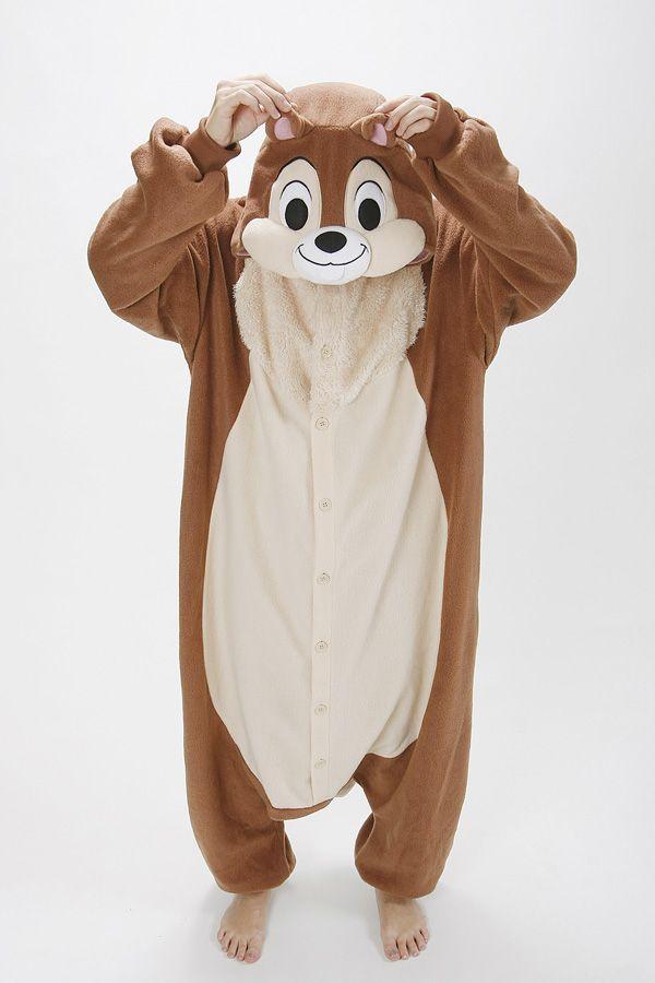 disney onesie chip and dale kigurumi pajamas chip costume cosplay toys games