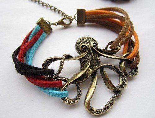 1) Vintage Octopus Colorful Leather Strap Bracelet on Wanelo  6c08d38e5e