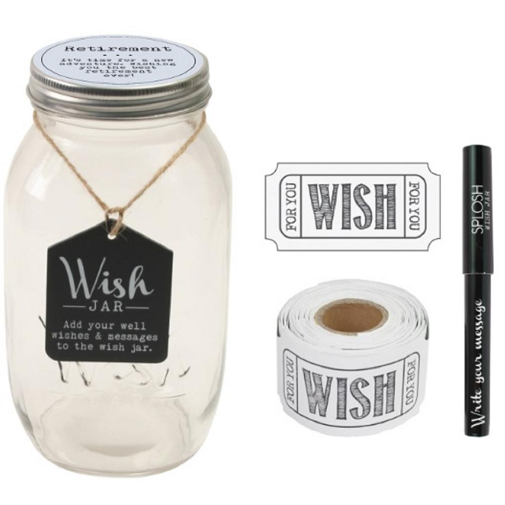 Stonebriar Collection 4 5 In X 8 In Retirement Wish Jar Clear Retirement Wishes Wedding Wishes Birthday Wishes