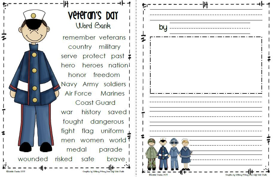 Kids Veterans Day Templates Click Here To Download Your Free Copy