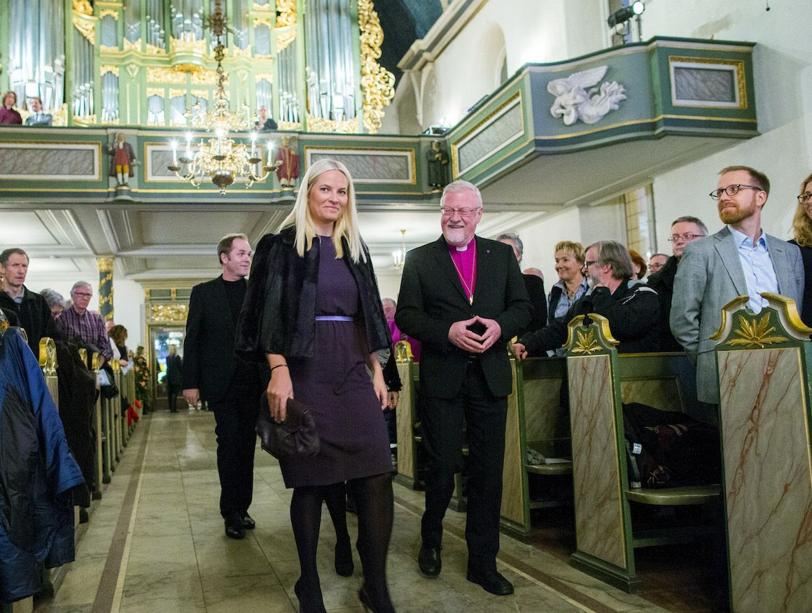 kongehuset.no -Her Royal Highness Crown Princess attended the performance of Mendelssohn's Elijah in Oslo Cathedral. The concert is part of the Oslo International Church Music Festival.