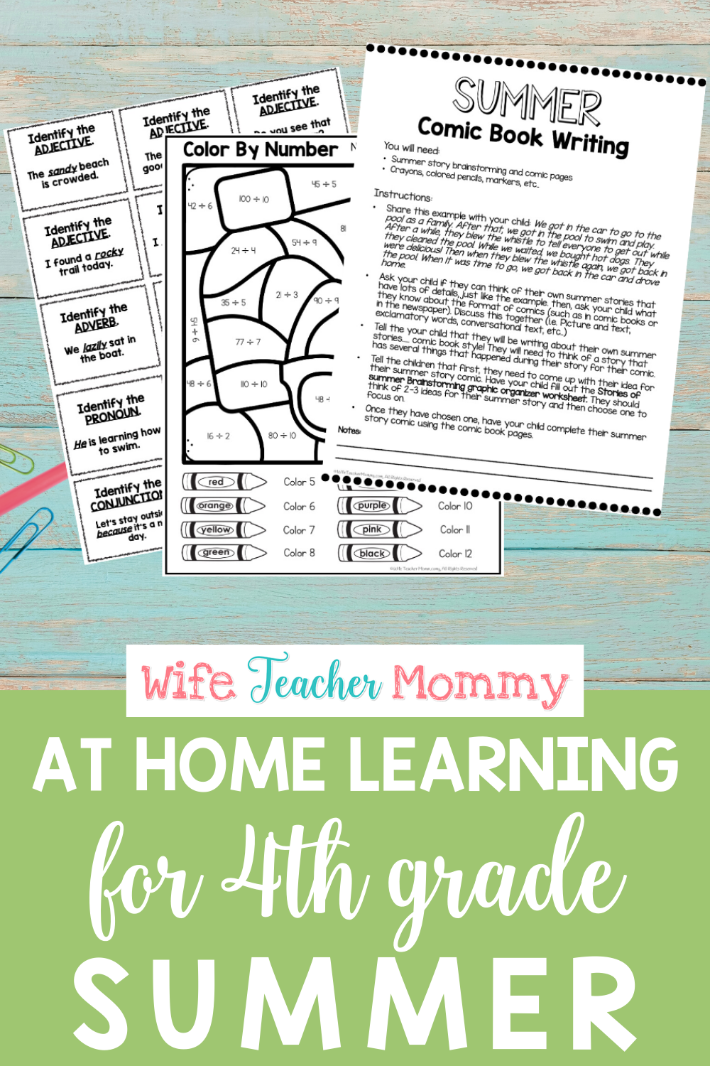 4th Grade Summer Learning: Summer Review Packet   Summer learning packet [ 1500 x 1000 Pixel ]