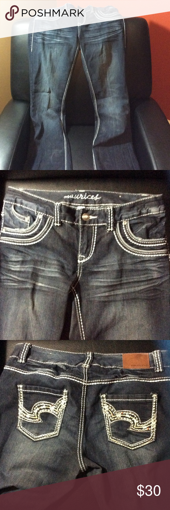 Like New Maurice's jeans 7/8 EUC! Flare/boot cut fit. Seem lower cut too Maurices Jeans Boot Cut