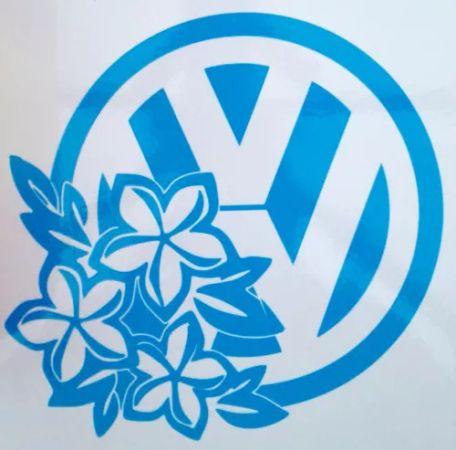 Volkswagen Vw Hibiscus Flowers Sticker Badge Graphic Decal