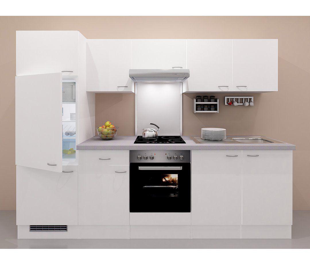 FlexWell Classic Küchenzeile Wito 270 cm Weiß