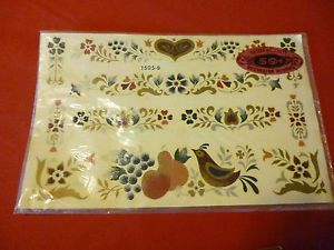 Vintage Meyercord Decals Wall Transfer Decoration Antique Furniture Floral  Decor