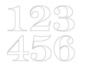 Painted House Numbers  Template Number And House