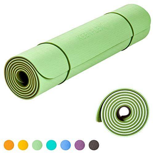 Keenflex Tapis De Yoga Premium Pour Pilate Et Fitness Epais Et Confortable Ecologique Et Recyclables Olive Pistachio Green